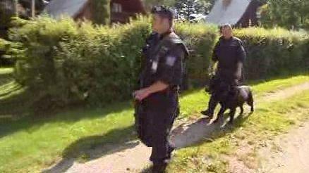 Policejní kontrola v chatové osadě