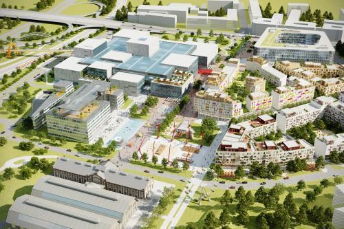 Vizualizace projektu administrativního centra v Nové Karolině