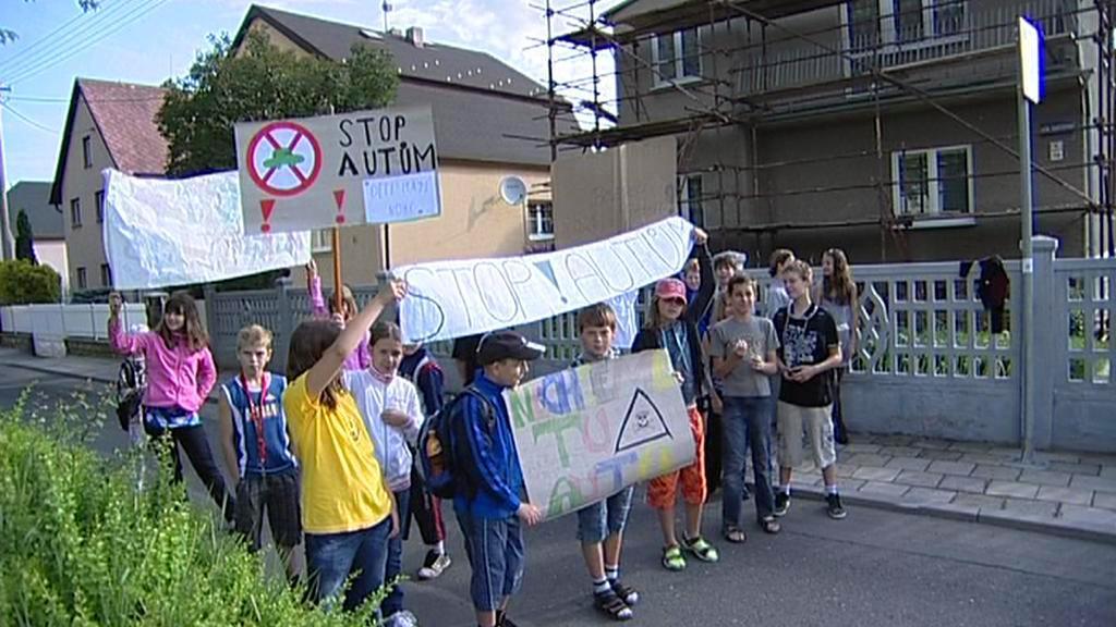 Stávkující školáci