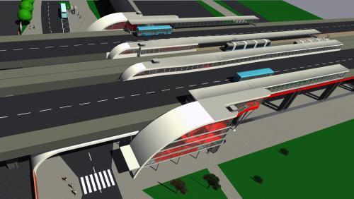 Vizualizace terminálu v Ostravě-Svinově