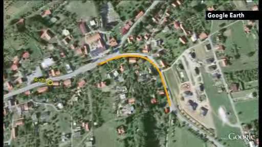 Budoucí chodník na mapě