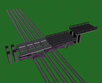 Simulace pádu mostu u Studénky