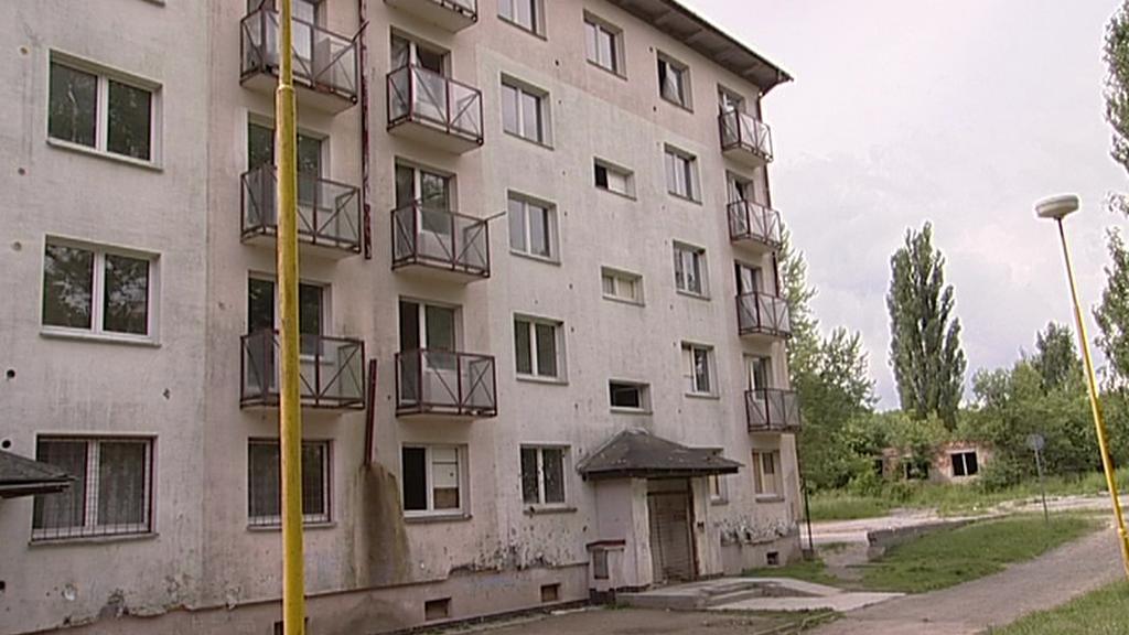 Zdevastovaný dům v Bruntále