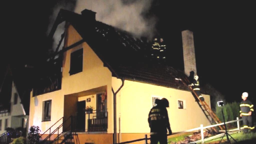 Likvidace požáru v Ústí na Přerovsku