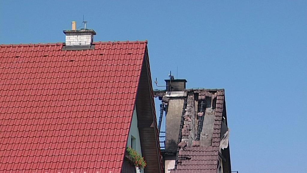 Následky požáru v Ústí na Přerovsku
