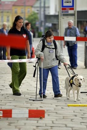 Závodní trať pro nevidomé