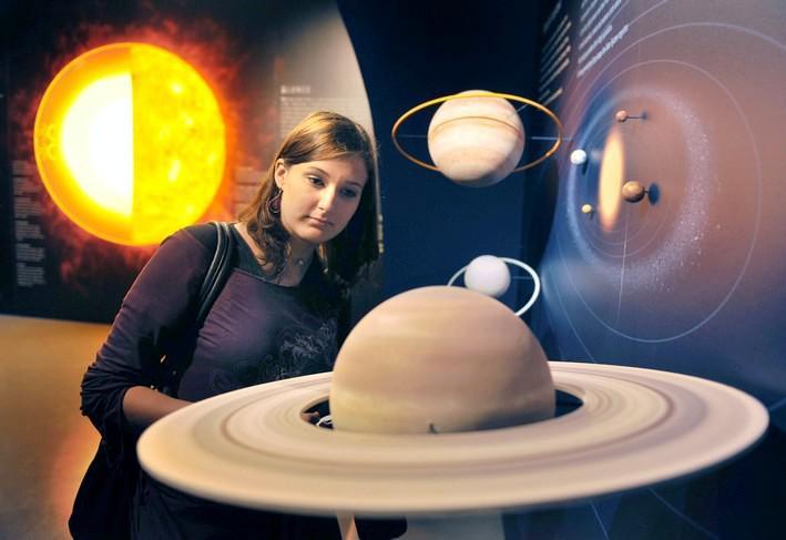 Část výstavy věnovaná vesmíru