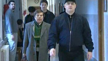 Petr Bezruč u soudu - archiv