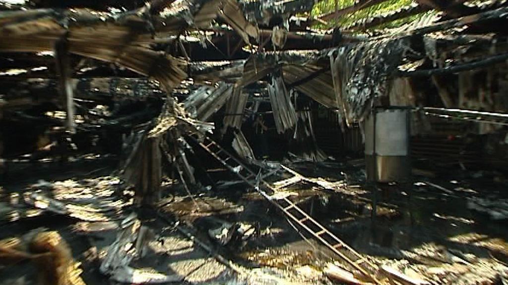 Vyhořelá drůbežárna