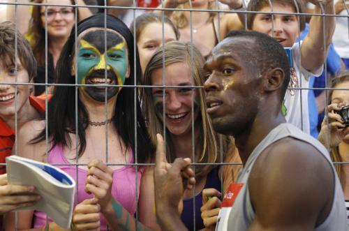 Usain Bolt na Zlaté tretře