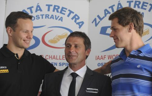 Jan Železný s Terem Pitkämäkim a Petrem Frydrychem