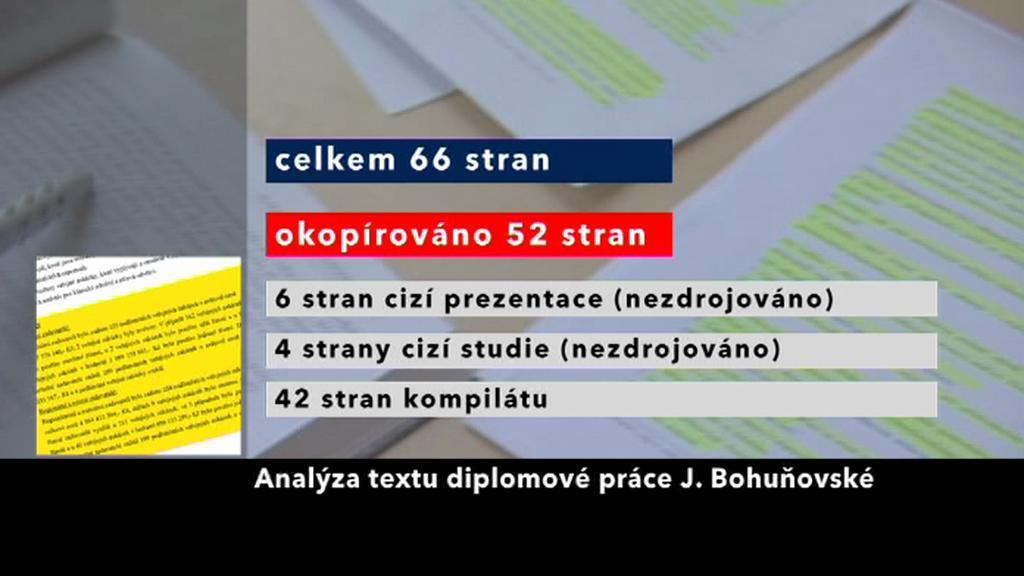 Analýza diplomové práce Jany Bohuňovské