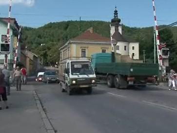 Frekventovaný železniční přejezd v Blansku