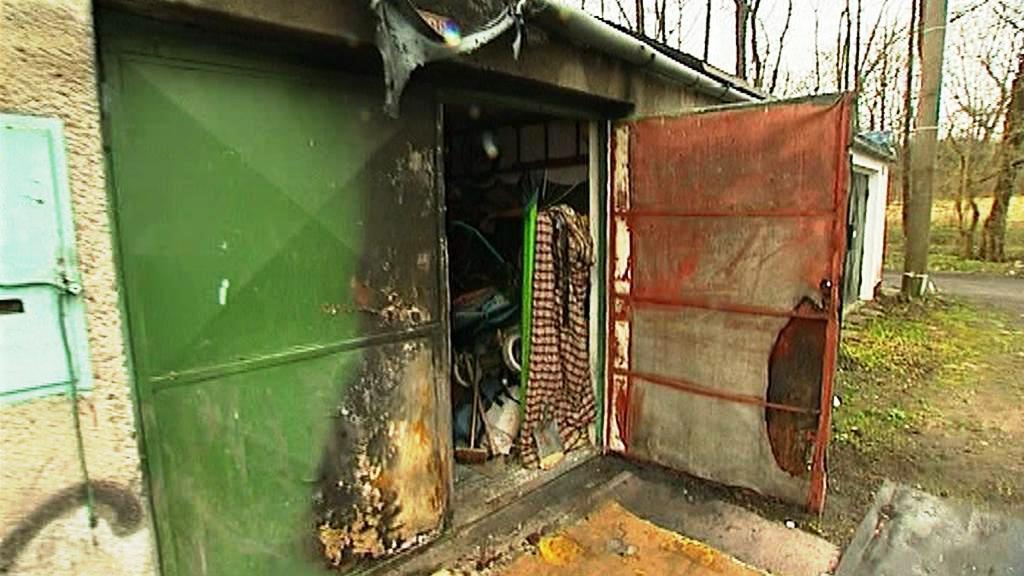 Zapálená garáž