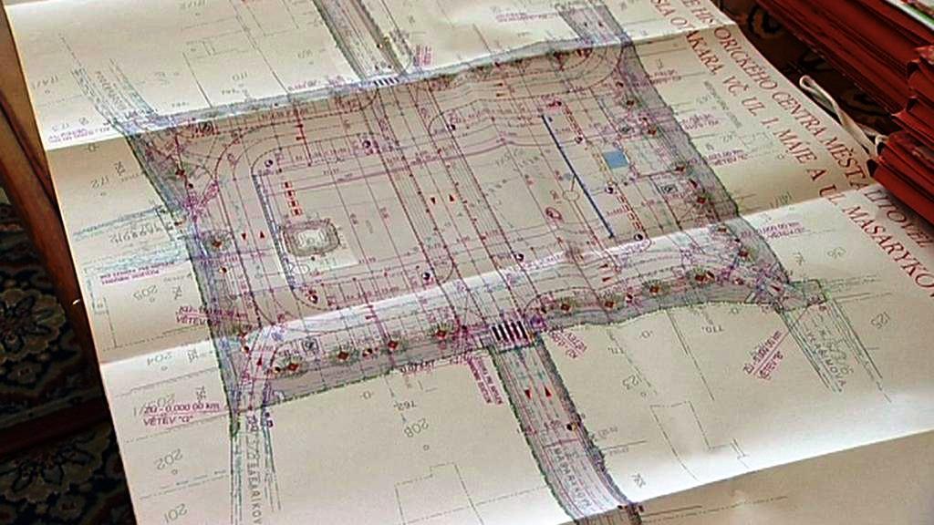 Plán rekonstrukce litovelského náměstí
