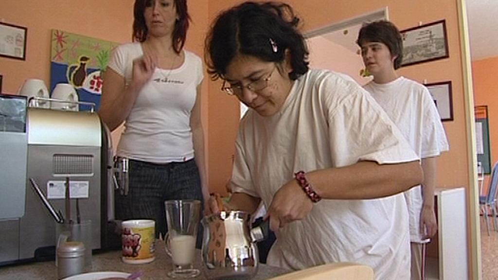 Příprava na práci v kavárně