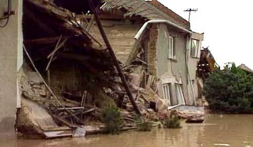 Ničivá povodeň v Troubkách v roce 1997