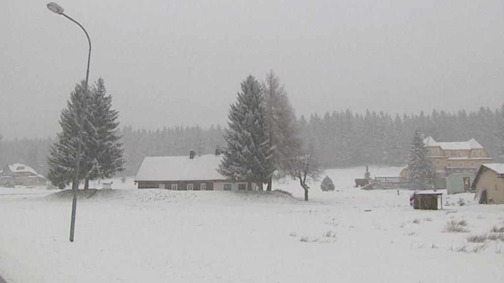 V Krkonoších sněžilo