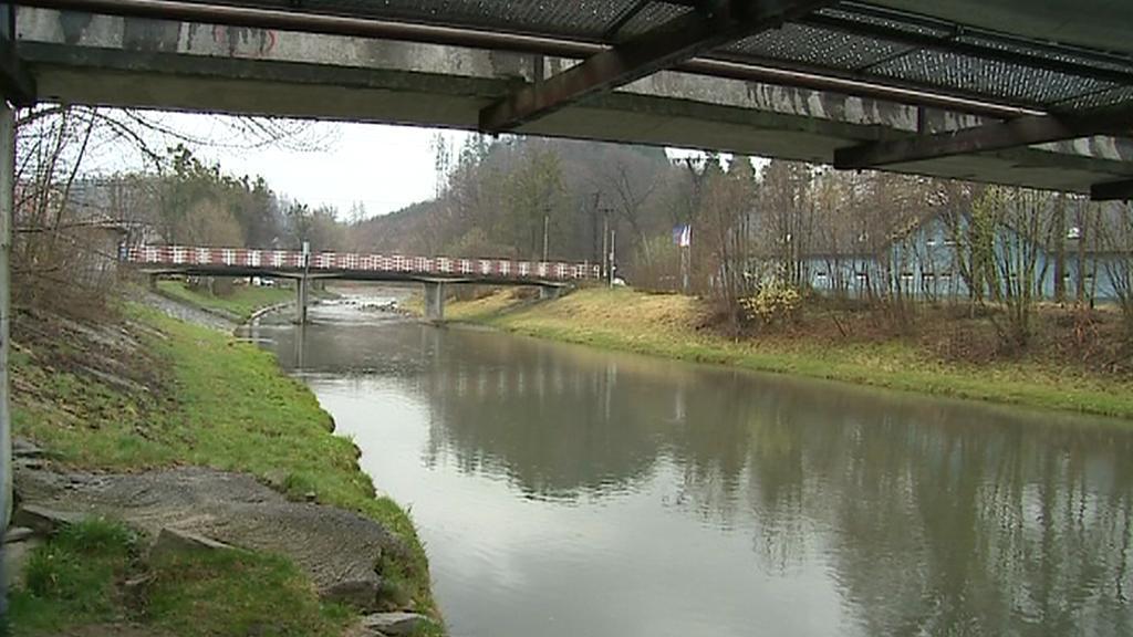 Řeka v Rožnově
