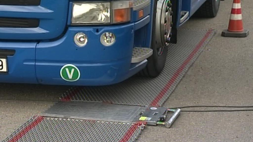 Kontrola kamionu na váze
