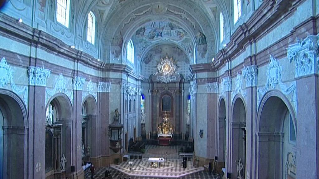 Interiér kostela Zvěstování Panny Marie