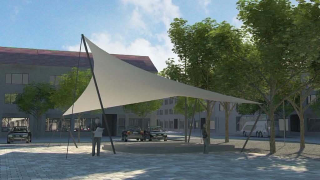 Vizualizace altánu na náměstí