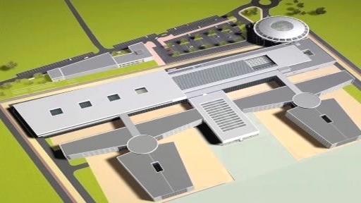 Model nového vězeňského areálu v Rapoticích