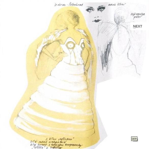 Oněgin / Návrhy kostýmů