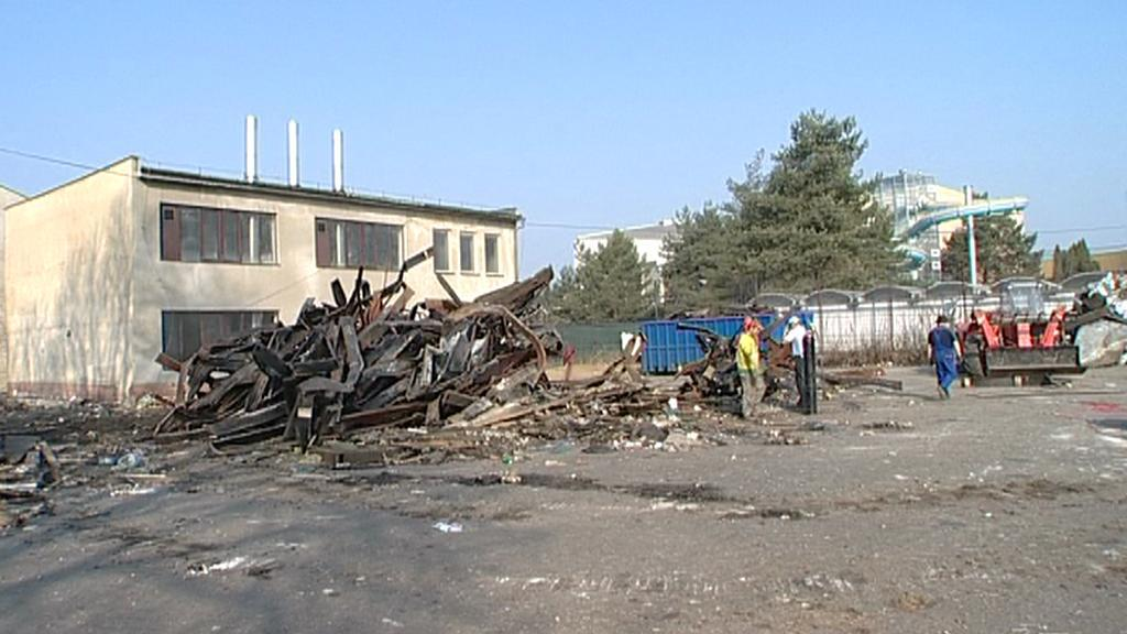 Zbouraný squat v Olomouci