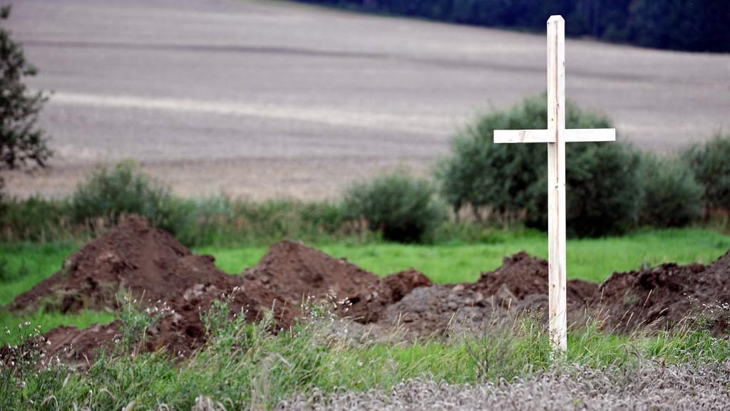 Kříž u hrobu Němců v Dobroníně