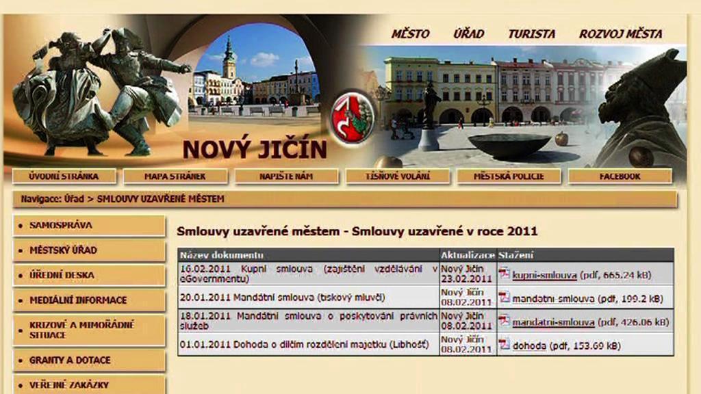 Webové stránky města