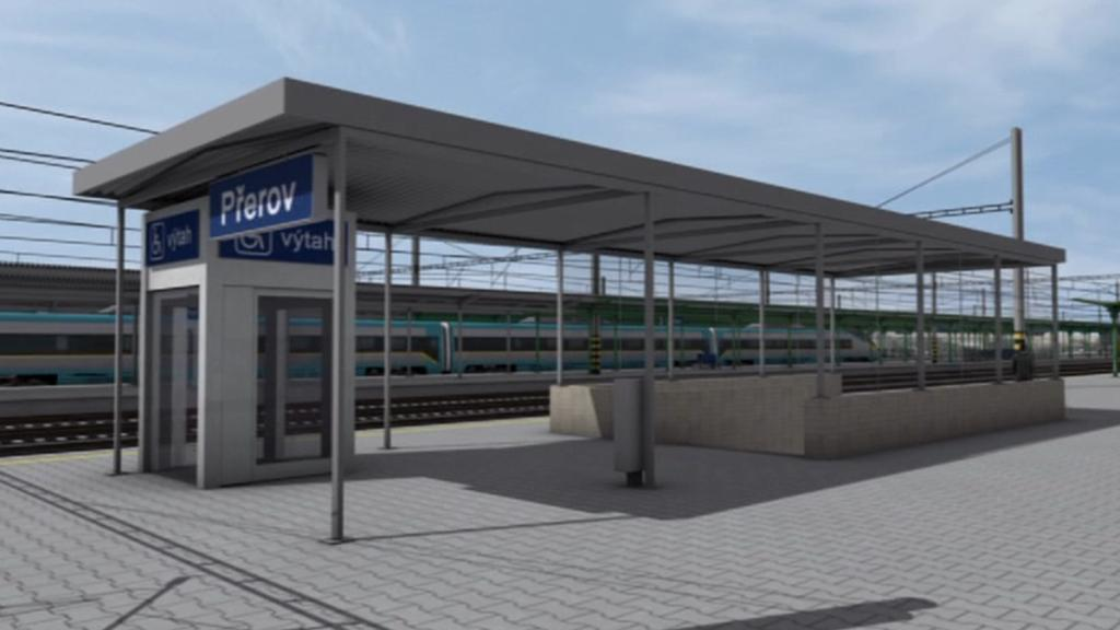 Vizualizace rekonstrukce nádraží