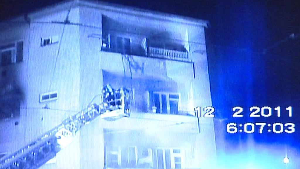 Požár domu v Táborské ulici v Brně