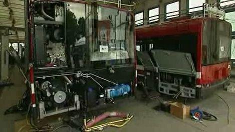 Výroba trolejbusů v Ostravě
