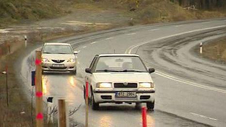 Stávající silnice mezi Ostravou a Opavou