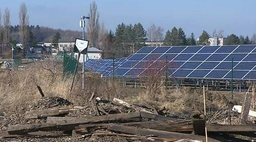 Solární elektrárna v Bystřici pod Hostýnem