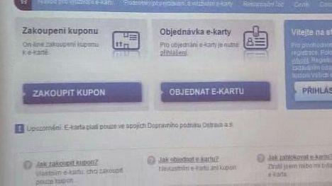 Internetový e-shop dopravního podniku