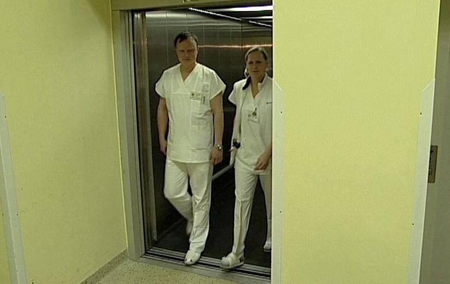 Výtah v krnovské nemocnici