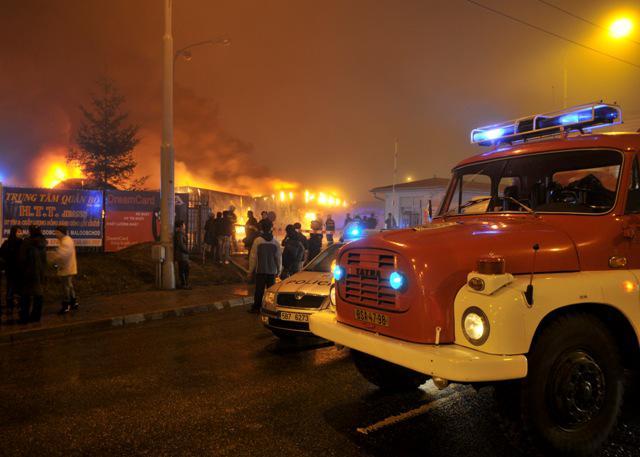 Požár brněnské tržnice