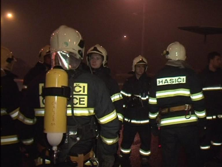 Požár tržnice v Olomoucké ulici v Brně