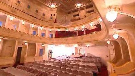 Interiér divadla po rekonstrukci