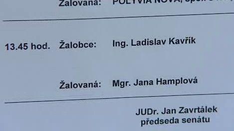 Případ Kavřík vs. Hamplová