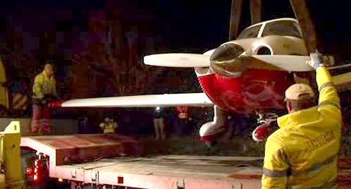 Letadlo bylo odvezeno do Brna