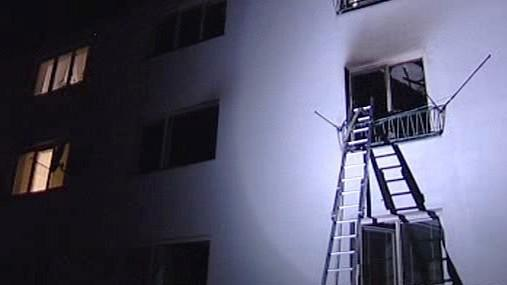 Požár bytového domu v Jihlavě