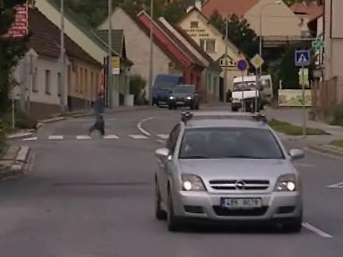 Přechod na ulici Fryčajova