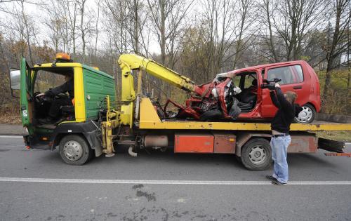 Odtah havarovaného auta