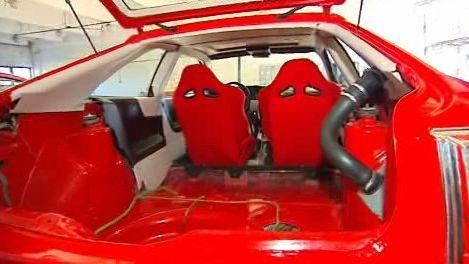 Upravený sportovní vůz