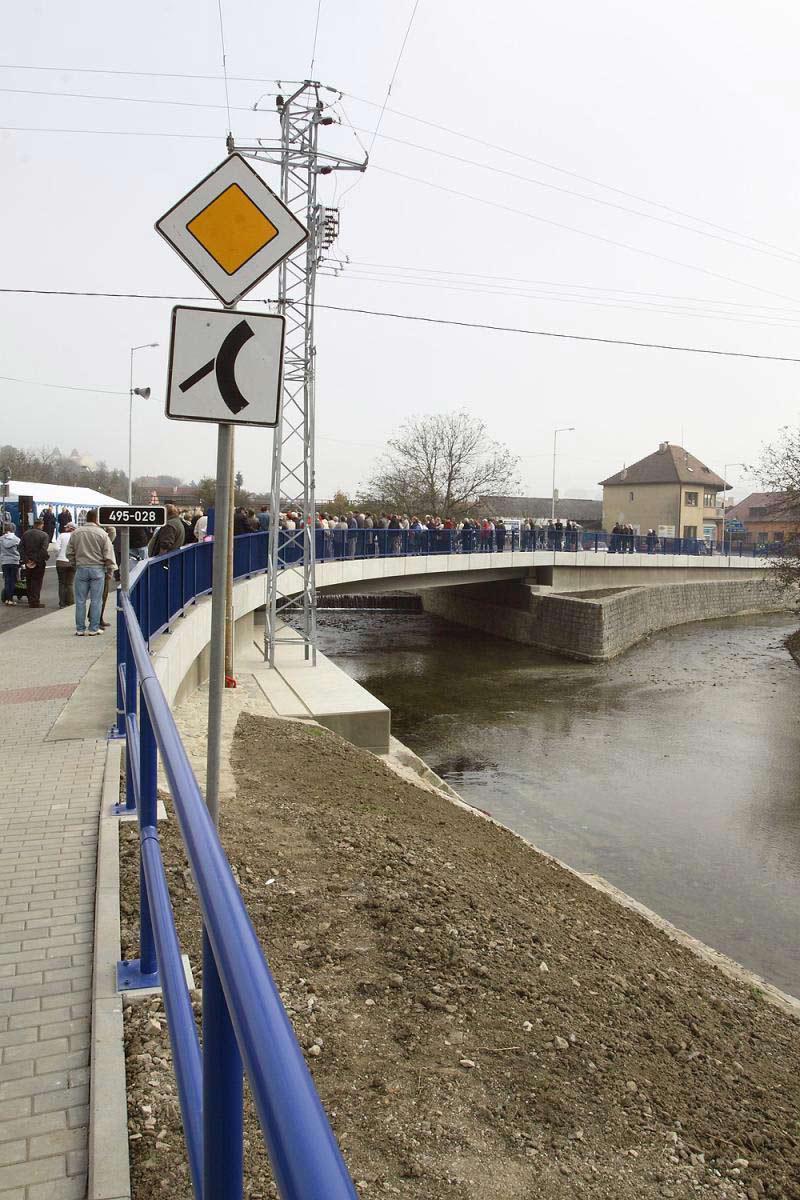 Slavnostní otevření mostu v Bojkovicích