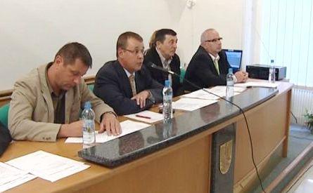 Tajemník Vladimír Krejčíř (první zprava)