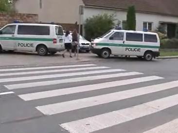 Přechod v Obřanech, na němž došlo k nehodě